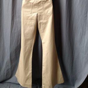 Balenciaga Jeans - Balenciaga Bell Bottom Pants Mens in Cream Denim
